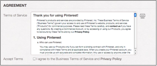 how to add business account to pinterest
