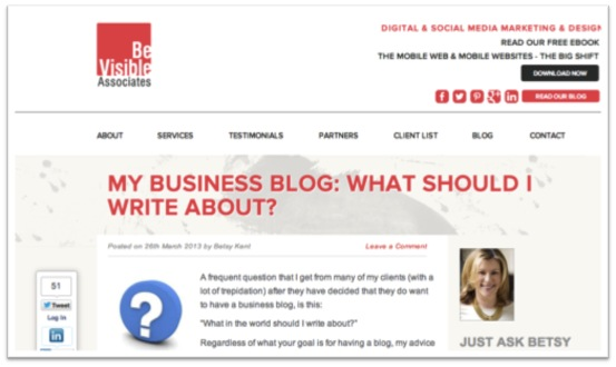 http://bevisible.co/my-business-blog-what-should-i-write-about/