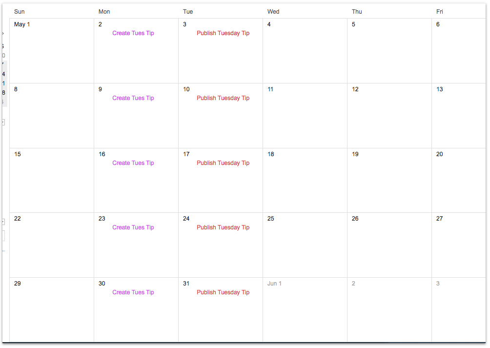 blog calendar, need a blog calendar, betsy ken, be visible, blog school