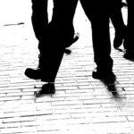 black and white mens pants