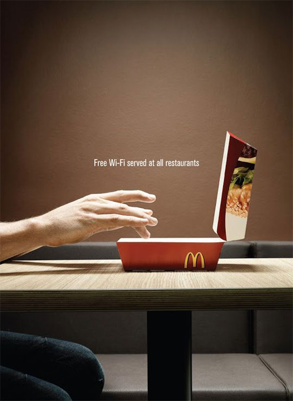 mcdonalds ad, betsy kent, be visible