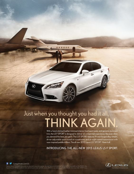 lexus ad, marketing, ideal client, ideal customer, betsy kent, be visible