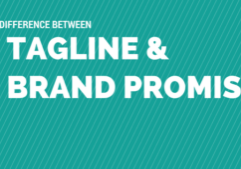 what's the difference between a tagline and a brand promise, betsy kent, blog school, be visible